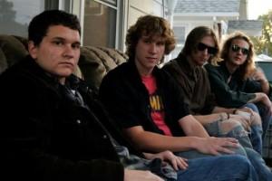 Chris, Bubba, Ben, Mike Vanishing Apollo on porch