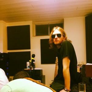 Ben in the studio
